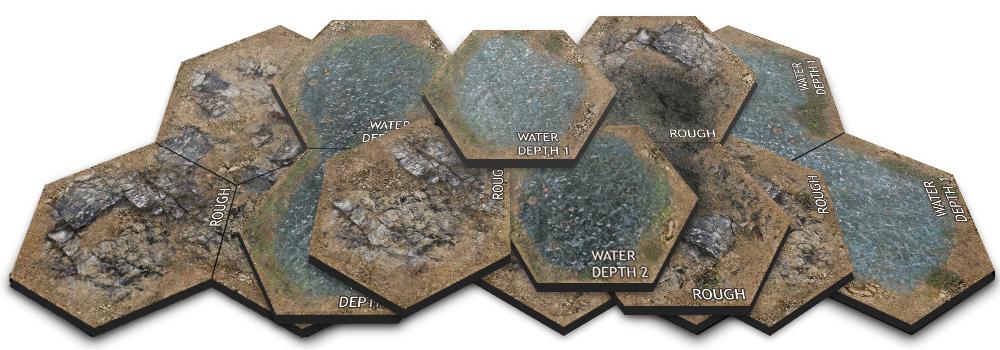 Value Hex Terrain Set 1 25 [x3]